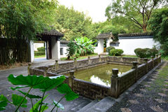 Chinese ancient garden. S in Shenzhen, China Stock Image