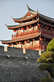 Chinese ancient gate tower Royalty Free Stock Photos