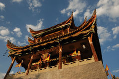 Chinese ancient gate tower Royalty Free Stock Images
