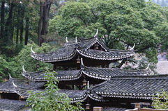 Chinese ancient house roofs Royalty Free Stock Photos