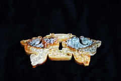 Chinese ancient jade carving Stock Image