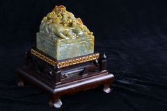 Chinese ancient jade carving Stock Photos