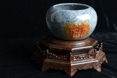 Chinese ancient jade carving Stock Photo