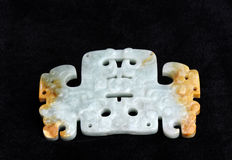 Chinese ancient jade carving art Royalty Free Stock Photo
