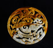 Chinese ancient jade carving art Royalty Free Stock Images