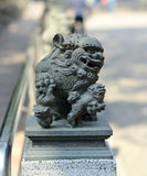 The Chinese ancient lion Stock Photo