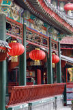 Chinese ancient long corridor Stock Image