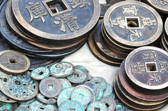 Chinese ancient money. Chinese ancient bronze money, bronze coin of ancient China Royalty Free Stock Photos