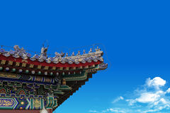 Chinese ancient palace eaves Royalty Free Stock Photos