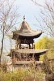 Chinese ancient pavilon. Chinese ancient pavilion in beijing,china Royalty Free Stock Photo