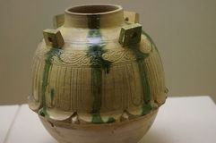 Chinese ancient pottery Stock Photography