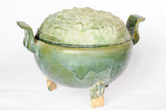 Chinese ancient pottery pot Royalty Free Stock Image