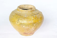 Chinese ancient pottery pot Stock Image