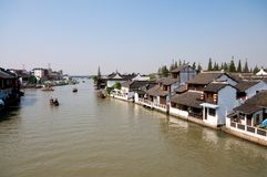 Chinese Ancient River Town Royalty Free Stock Photos