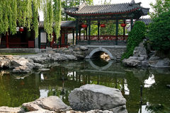 Chinese ancient royal garden. Exquisite Chinese ancient royal garden Stock Photos