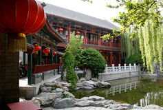 Chinese ancient royal garden. Exquisite Chinese ancient royal garden Royalty Free Stock Photography