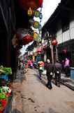 Chinese ancient rural market Stock Photos