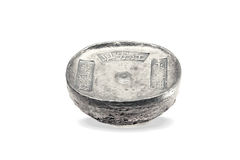 Chinese ancient silver Ingot Royalty Free Stock Images