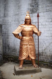 Chinese ancient statue guards Stock Image
