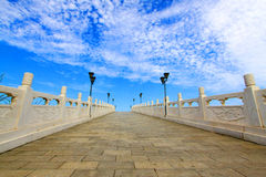Chinese ancient stone arch bridge. Hebei Province, China Stock Images