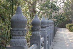 Chinese ancient Stone baluster Royalty Free Stock Photography