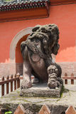 The Chinese ancient stone lions Royalty Free Stock Image
