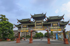 Chinese ancient street scenery Stock Photography