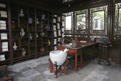 Chinese ancient study stock images