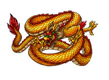 Chinese ancient Style dragon Stock Image