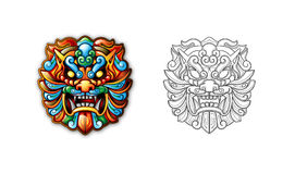 Chinese ancient Style Tiger Mask Stock Photo