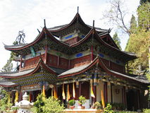 Chinese ancient temple. In lijiang Stock Images