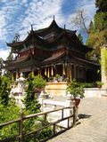 Chinese ancient temple. In lijiang Stock Image