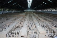 Terracotta Army Soldiers Horses, Xian China royalty free stock photos