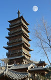 Chinese ancient tower royalty free stock photo