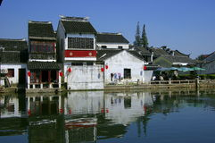 Chinese ancient town tong li Stock Image