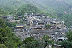 Chinese ancient village. An chinese village located neary by beijing, china. Lot's of traditional house there.Its name is cuan di xia stock photography