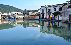 Chinese ancient village. China's anhui province, guizhou province county ancient village Royalty Free Stock Photography