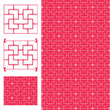 Chinese ancient window symmetry seamless pattern. This illustration is drawing ancient window in symmetry with pink color background and seamless pattern Royalty Free Stock Photos