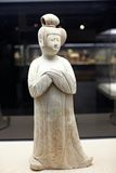 Chinese ancient woman statue of Tang dynasty Stock Photo