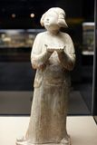 Chinese ancient woman statue of Tang dynasty Royalty Free Stock Photo