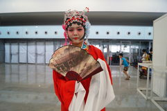 Chinese ancient women's dress, in the Shenzhen International Video Festival Royalty Free Stock Image