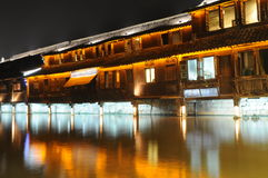 Chinese ancient wood building Stock Photography