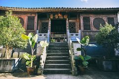 Chinese ancient wooden building in Heshun Old Town royalty free stock photo