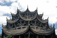 Chinese ancient wooden tower Royalty Free Stock Images
