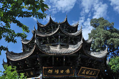 Chinese ancient wooden tower Royalty Free Stock Photos