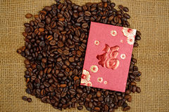 Chinese Ang Pao And Coffee Bean Stock Image