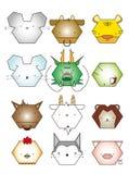 The Chinese Animal Zodiac. 12 animal icon set,Chinese Zodiac animal,,illustration Stock Photo