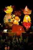 Chinese Animal Zodiac Lanterns Royalty Free Stock Photos