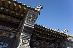 Chinese Antique architectural features Stock Photos