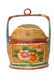 Chinese Antique Bamboo Basket Royalty Free Stock Photo